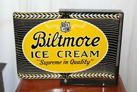 1962 Biltmore Ice Cream Dairy Farms Spinner Porcelain Sign