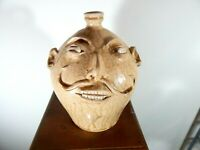 ( the colonel )  marvin bailey  face jug, pottery, folkart  10''x8''