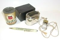 Phillips 66 & Farmers Exchange Coin Bank Mechanical Pencil & Whistle Lot    T*