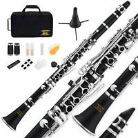 Eastar B Flat Clarinet Black Ebonite Clarinet With Mouthpiece with Case Musical