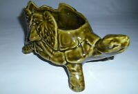 Vintage McCoy Green Turtle Planter Indoor Outdoor Decor