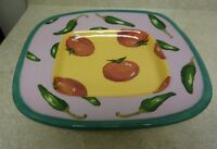 Droll Designs Vegetable Plate Platter Dish Tomato / Green Peppers