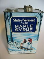 Vintage One Gallon State of Vermont pure Maple Syrup can/tin