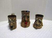 Old Man Funny Face Pottery 3D Mugs!