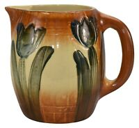 Roseville Pottery 1910-16 Early Ware Tulip Ceramic Pitcher