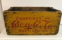 Rare Yellow COCA-COLA COKE Wood Wooden Case Crate Box Antique Advertisement