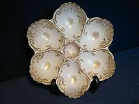 Limoges PHL France 9 1/2-inch Six Well Oyster Plate