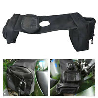 ATV Fuel Tank Bag Mobile Cup Holder Durable UTV Motorcycle Storage Saddlebag New