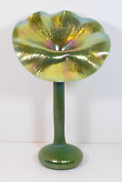 Rare LUNDBERG Studio 1995 JACK in the PULPIT VASE Signed Tiffany Style