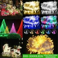 Outdoor Fairy Lights 100-1000 LED Indoor Garden Christmas Tree Wedding US PLUG