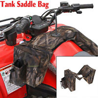Waterproof Camouflage Padded Cargo Storage Gas Tank Luggage Saddle Bag For ATV