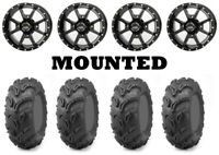 Kit 4 Maxxis Zilla Tires 27x9-12 on Frontline 556 Black Wheels IRS