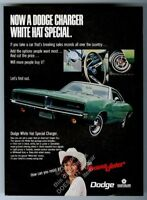 1969 Dodge Charger White Hat Special green car photo vintage print ad