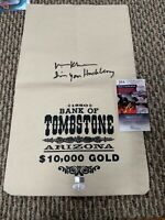 Val Kilmer Doc Holliday Signed Replica Bag Tombstone Actor JSA with Quote