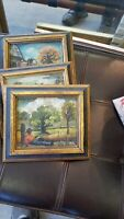 BLACK SOUTHERN FOLK ART COLLECTION OF 7 OIL PAINTING