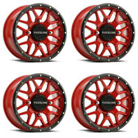 4 ATV/UTV Wheels Set 14in Raceline Krank Red 4/110 5+2 H700
