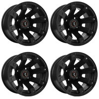 4 ATV/UTV Wheels Set 12in Raceline Scorpion Black 4/110 5+2 IRS