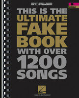 The Ultimate Fake Book 4th B Flat Sheet Music Bb Trumpet Clarinet 1200 Songs
