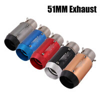 38-51mm Universal Slip On Muffler Exhaust Tips Pipe For Motorcycle Scooter ATV