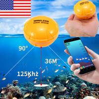 Lixada 36M/118ft Wireless Remote Fish Finder Sea Lake Sonar Sensor F iOS Android