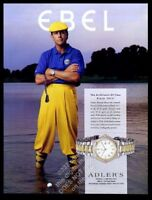 1995 Payne Stewart photo Ebel watch vintage print ad