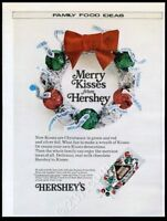 1975 Hershey's Kisses Christmas red green silver kiss photo vintage print ad