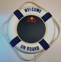 Red Bull Energy Drink Large Wall Sign Lifebuoy Man Cave Bar Pub Advertising Rare
