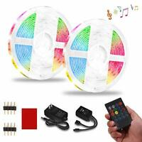 LED Strip Lights 32.8FT RGB Light Strips Music Sync Color Changing Rope Light