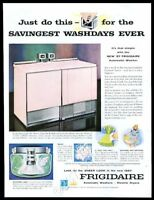 1957 Frigidaire Imperial pink washer dryer photo vintage print ad