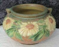 Vintage Roseville Art Pottery Brown Dahlrose 364-6