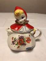 VINTAGE COLLECTIBLE HULL USA LITTLE RED RIDING HOOD TEAPOT 8