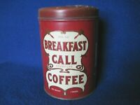 Vintage Breakfast Call 1LB Coffee Tin - Independence Coffee and Spice Co, Denver