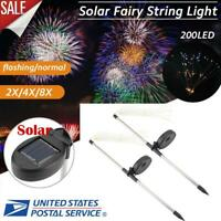 Solar Powered Outdoor LED String Lights Party Holiday Firework Fairy Light Decor