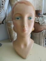 THE BEST OLD VINTAGE STORE DISPLAY MANNEQUIN HEAD FORM Gorgeous Woman