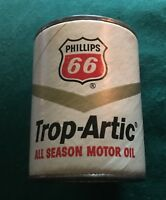 """"""" MANUFACTURING MIX~UP """" PHILLIPS 66 TROP-ARTIC ALL SEASON MOTOR OIL BANK"""