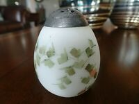 MT Mount WASHINGTON Glass Hand Painted EGG Shaped Salt or Pepper Shaker