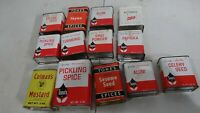 Lot of 13 vintage Tone's, Coman's, French's spice tins collectible