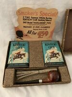 Vintage 1947 Model Highlander Pipe Kentucky Club Tin Store Display Advertising