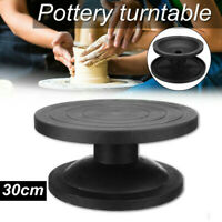 Pottery Wheel Rotating Table Clay Modeling Sculpture Turntable Tool 30cm Black