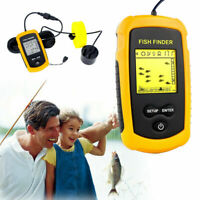 Portable Fish Finder Handheld LCD Fish Depth Finder Sonar Sensor Transducers