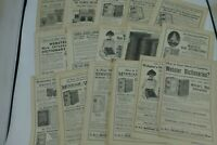 Original Book Ads lot of 16 Webster's Dictionary ads 1911-1916 Publishers Weekly