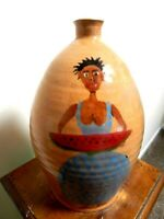marvin bailey black lady jug, pottery, face jugs, folkart 10''x6''     #3 of 5