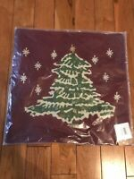 Pottery Barn Christmas Tree Pillow Case Red New 18x18""