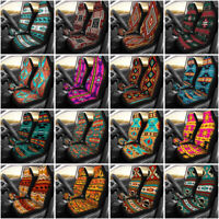 2PC Car Seat Covers Native Indian Aztec Boho Front Seat Auto protector Universal