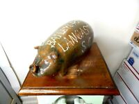 marvin bailey ( pig whiskey flask )   , pottery, folkart 10''x 5''