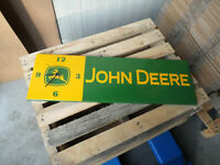 JOHN DEERE - Tractors - European Quality Heavy Porcelain Enamel Sign with Clock