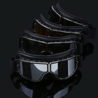 Motorcycle Goggles Motocross Sport ATV Glasses Black PU Leather Eyewear