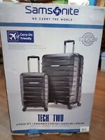 Samsonite Tech 2.0 2-Piece Hardside Luggage Suitcase Set Gray