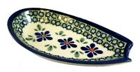 Polish Pottery Spoon rest Zaklady 5quot; by 3quot; Free Shipping