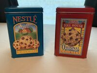 Two 1970's Nestle Toll House Cookie Collectible Tins